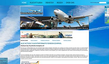 Screenshot Vluchtinfo-Schiphol.nl