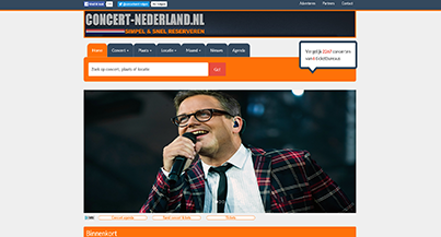 Screenshot Concert-Nederland.nl